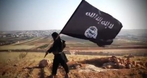 Picture: Islamic State black flag (Washington Post)