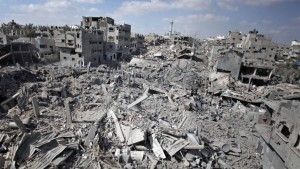 Shejaiya neighborhood of Gaza after war Photo:Times of Israel